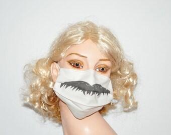 Funny Surgical mask, Chevron Mustache, Movember, Organic cotton washable cotton mask, Face mask