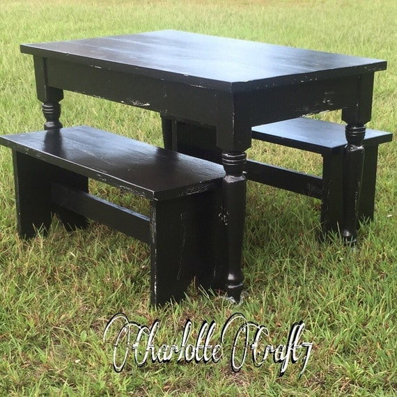 Any Color Children Farmhouse Table and Bench Set