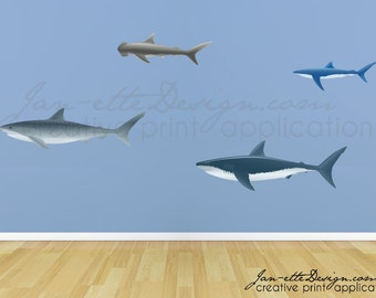 Ocean Wall Decals, Shark Wall Stickers, Under The Sea Them Stickers Part 73