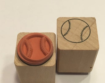 small / tiny baseball stamp, 15 mm (B4/2)