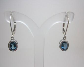 Brazilian London Blue Topaz Earrings