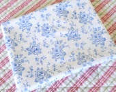 vintage french pillow sham pillow case vintage pillow cover vintage bedding blue floral pillow case