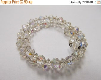 On Sale Vintage Sparkling Aurora Borealis Spiral Bracelet Item K # 1368