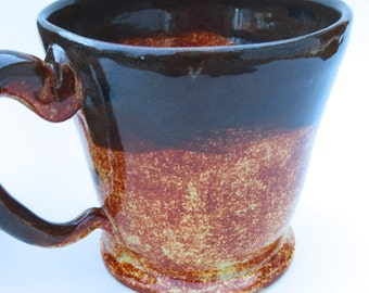 Brown Coffee Mug, Handmade Coffee Mug, Ceramic Pottery
