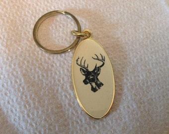 Vintage McCloud Deer Keychain