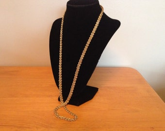 Vintage Goldtone Round Chain Necklace, Length 30''