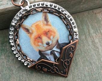 Hello Mr Fox Necklace/Fantasy/Woodland/Mixed Metal