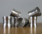 Vintage Napkin Rings Danish Modern Stainless Steel / christmas table / Dinner Party / *183