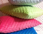 """Minky Pillow Sham; Travel Pillow: Toddler Pillow; Minky Pillowcase; Pick Your Color-Fits Pillow Form 12"""" X 16"""" or 13"""" X 18"""""""