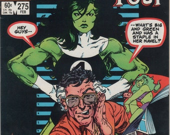 Marvel Comics, 1984 Fantastic Four #275, She-Hulk, Stan Lee, Bronze Age Comic Books, Antique Alchemy