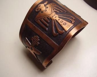 Vintage 1940's, 50's Eagle Copper Cuff Bracelet