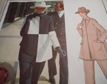 Vintage 1960's Vogue 2668 Paris Original Givenchy Jacket, Pants, and Tunic Sewing Pattern Size 10 Bust 32 1/2