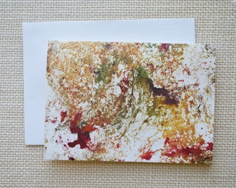 Abstract Art Blank Note Card