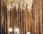 Sequin Drapes, 8 x8 feet, 10 Feet, 12 Feet, 14 feet, SEAMLESS, photo backdrop, Gold, Champagne, Rose Gold, Silver, New Year, Christmas