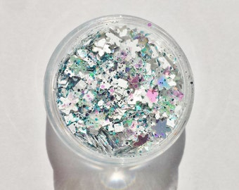 Christmas Solvent Resistant Glitter Mix  - Winter Wonderland - 5 Gram Nail Polish Glitter Mix for Nail Polish Frankening Scrapbooking