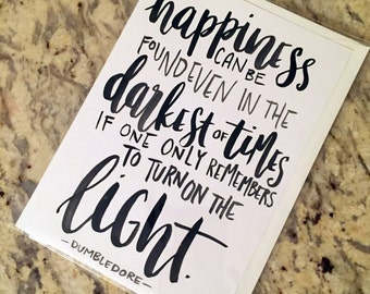 Albus Dumbledore Quote (JK Rowling) -- prints or cards