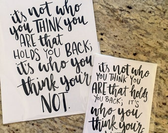 It's Not Who You Think You Are -- prints or cards