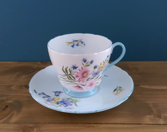 Shelley Tea Cup and Saucer in the Wild Flower Pattern