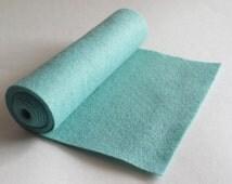 SALE 5x36 Dark Aqua Wool Blend Felt Roll