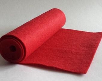 SALE 5x36 Red Wool Blend Felt Roll