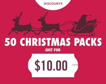Christmas Clipart Christmas Clip Art Christmas Cards Holiday Clipart Invitation Clipart Winter Clipart Christmas Printable Digital Clipart