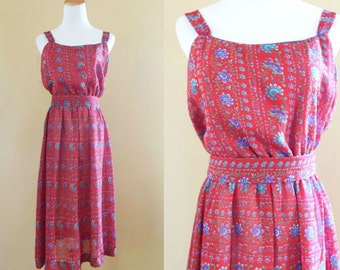 1970's Easy Breezy Sundress - Lanz Dress - Vintage 70's Dress Medium