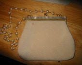 1950s Fine Arts Bag Company (FABCO) Seed Pearl & MOP Bridal Clutch