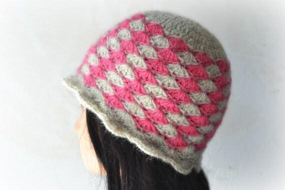 Crochet hat pattern, womens hat pattern, shell stitch hat ...