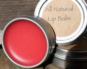Organic Lip Balm Lavender Geranium - All Natural Lip Balm - Alkanet Root Lip Balm - Sheer Pink Lip Balm - Lip Balm Tin - Natural Lip Gloss