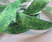 "St Patricks day, Holiday ribbon, St Patricks craft supplies, Happy St. Patricks day, grosgrain ribbon, shamrock, 7/8"" Ribbon, RN14745"