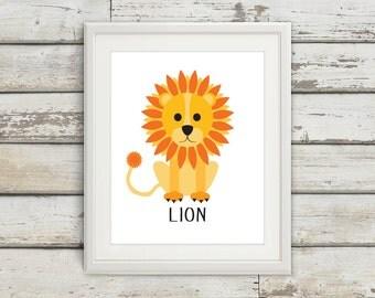 Lion, Lion Tail, Lion Wall Art, Lion Print, Lion Poster, Lion Kids, Nursery, Nursery Wall Art, Nursery Decor, Lion Nursery, Lion Kids Wall