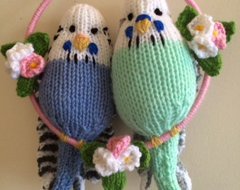 Knitted Budgie Buddies