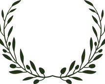 Olive Branch Wreath-SVG file for cutting