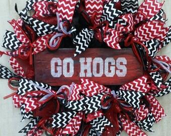 Arkansas Razorbacks Wreath, Arkansas Wreath, Razorbacks Wreath, Go Hogs