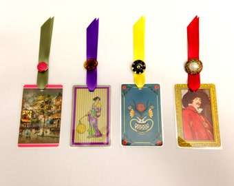 Vintage Playing Card Bookmarks - Assorted