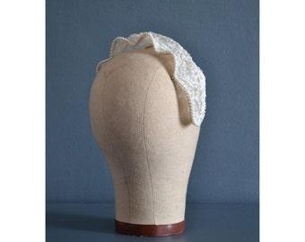 SALE - 50s bridal headpiece / 1950s wedding hat / womens hat