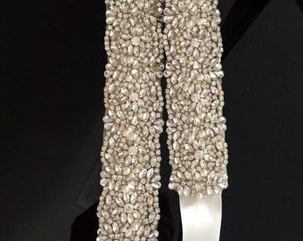 Bridal belt - dress sash - wedding dress - wedding belt - Rhinestone belt - Prom sash