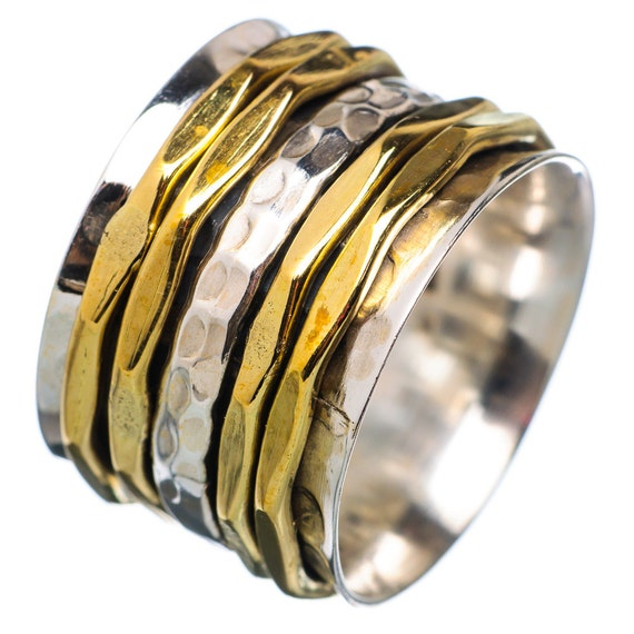 Spinner Ring Two Tone Five Band Spinners