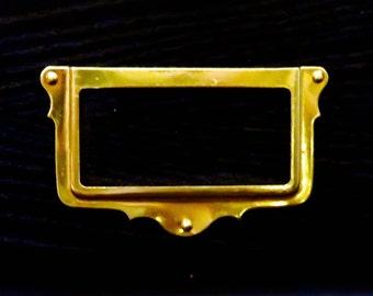 Vintage, Brass Card Brackets, Set of 12 Name Card Holder, Office Supplies, Project Hardware