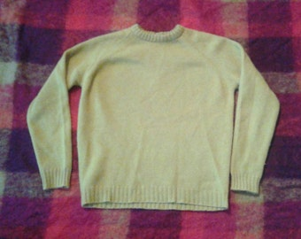Mustard knit sweater vintage xs s