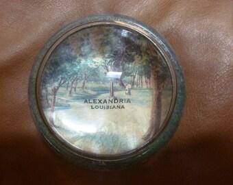 Alexandria Louisiana dome paperweight VINTAGE Estate
