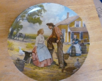 Oklahoma plate by Mort Kunstler Knowles 1985