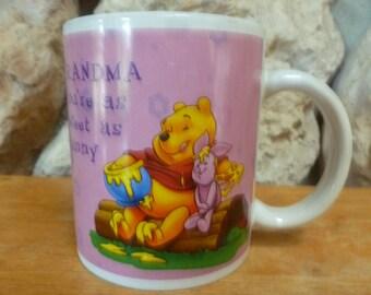 Disney Winnie Piglet Hunny Pot Grandma mug