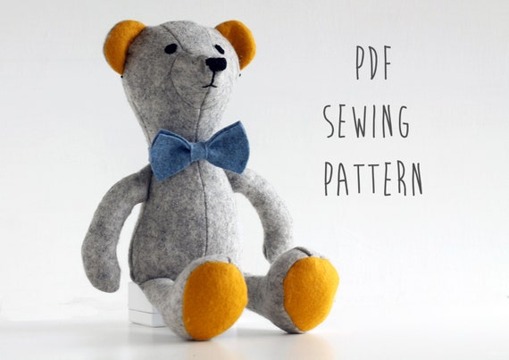 make your own teddy bear template - teddy bear pattern sew your own soft toy bear by craftykooka