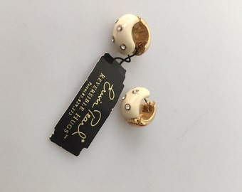 ERWIN PEARL Earrings, Reversible HUGS Earrings, Vintage Erwin Pearl, 1980s vintage, Vintage Earrings, Pierced Earrings, Designer Earrings