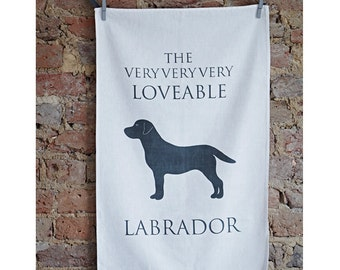 Labrador Retriever Tea Towel - Labrador Gifts - Dog Lover Kitchen Towels - Gifts for Dog Lovers - Dog Lover Kitchen Accessories - Dog Breeds
