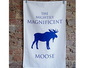 Moose Tea Towel, Moose Gifts, Moose Design, Moose decor