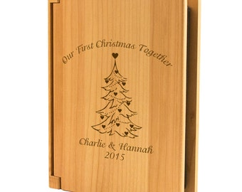 Engraved Our First Christmas Photo Album