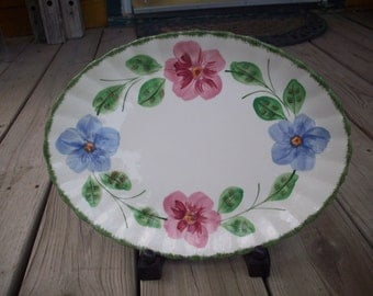 Blue Ridge - Platter - 1940's - Hand Painted