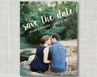 Modern Save the Date Magnets or Card Photo - Custom photo save the date cards or magnets